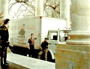 Ronald Boyd Delivering a piano to the Reagan White House